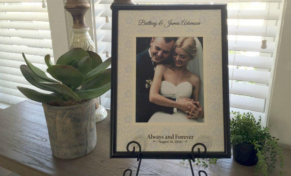 Personalized Designer Photo Frames - Floral Style - Qualtry