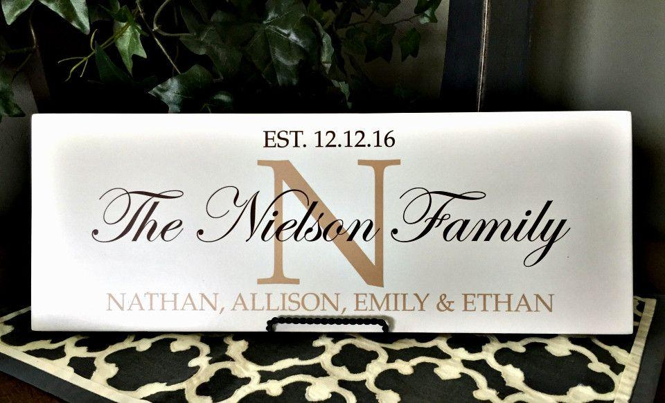 Personalized Family Home Signs - Personalized Gifts - Qualtry