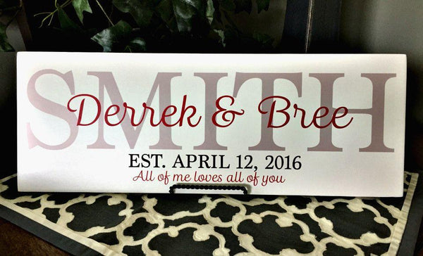 Personalized Family Home Signs