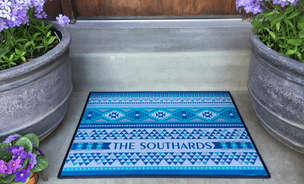 Personalized Medium Door Mats - Southwest Design - Qualtry