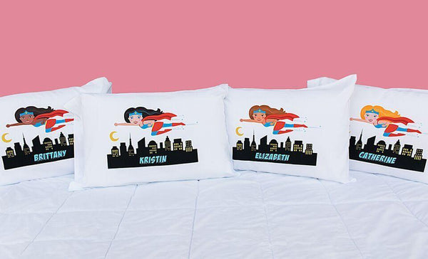 Personalized Girl Superhero Pillowcases