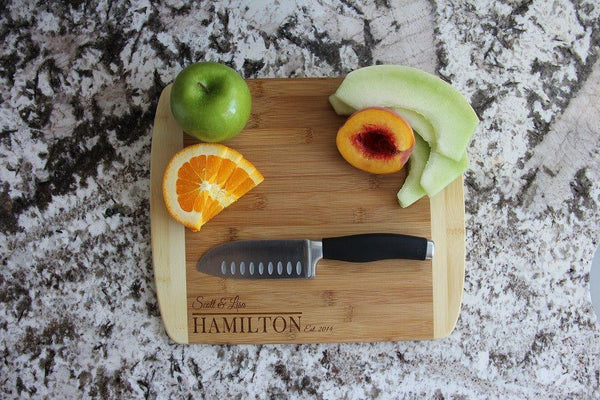 Personalized Cutting Board 11x14 (Rounded Edge) Bamboo – 7 Designs