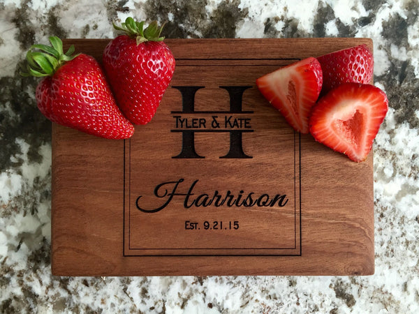 Personalized Beautiful 6 x 8 Mahogany Cutting Board - 11 Designs!