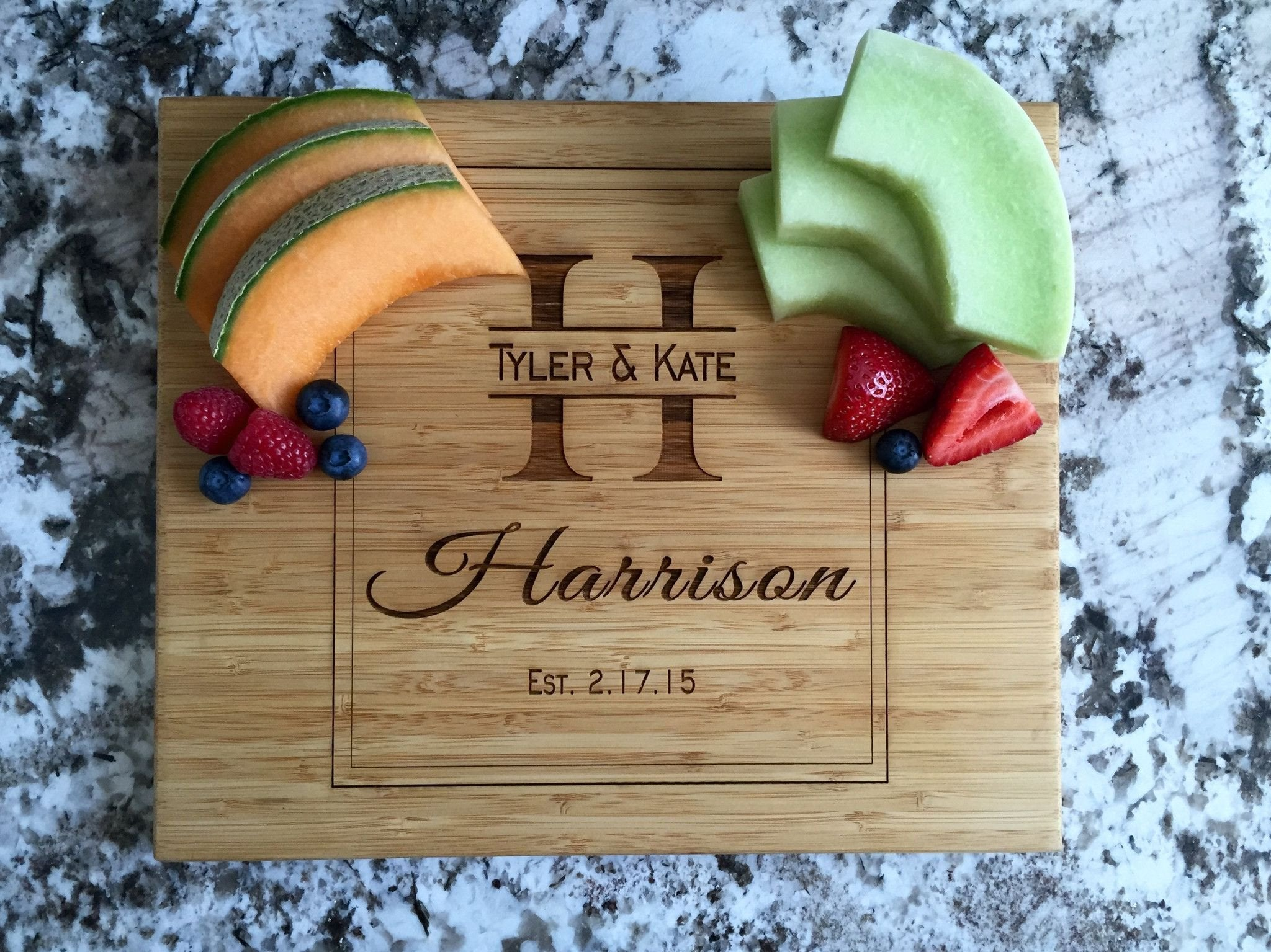 Qualtry Personalized Cutting Board 11x13 Bamboo 11 Designs