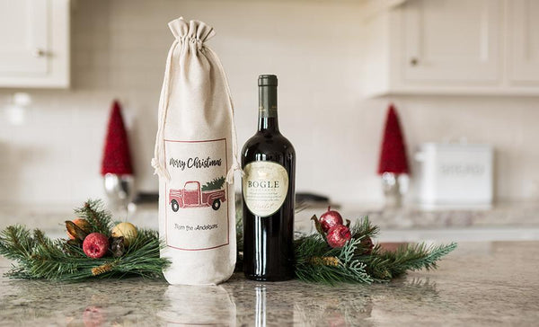 Social Media Deals - Customized Christmas Wine Gift Bags