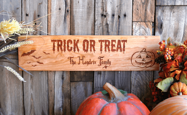 Personalized Happy Halloween House Signs - Qualtry Personalized Gifts