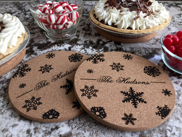 Personalized Large Kitchen Hot Pads  -  5 Different Designs (Set of 2) - Qualtry