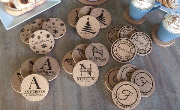 American Pacific Mortgage - Thick Cork Coasters - Set of 4