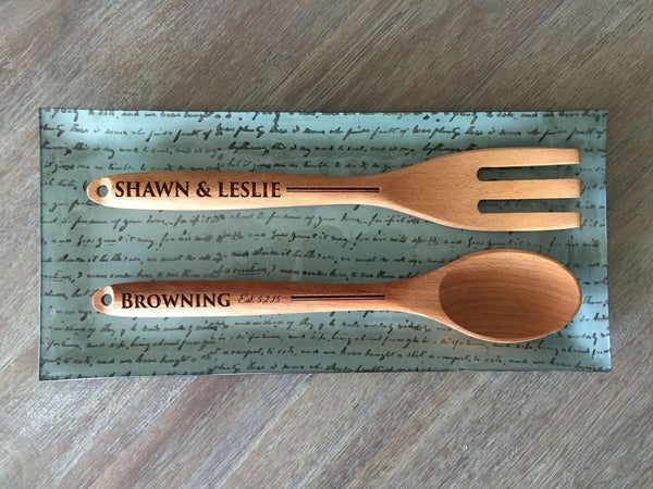 Gateway Mortgage Decorative Wooden Spoon and Fork Set (logo unavailable)
