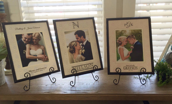 Personalized Designer Photo Frames - Floral Style - Qualtry Personalized Gifts