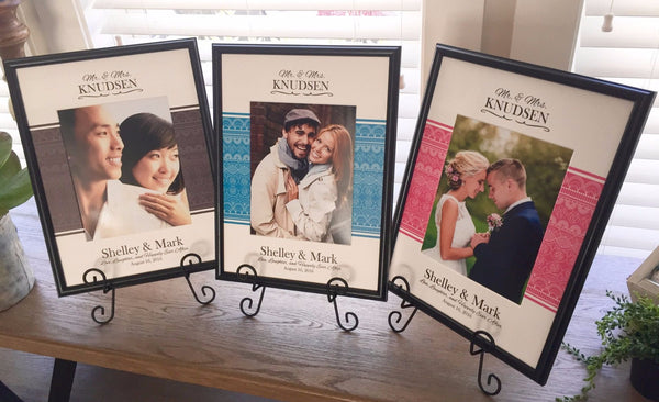 Personalized Designer Photo Frames - Central Banner Style - Qualtry