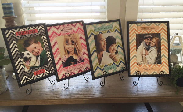 Personalized Designer Photo Frames - Chevron Style