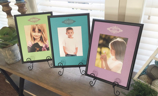 Personalized Designer Photo Frames - Polka Dot Style - Qualtry
