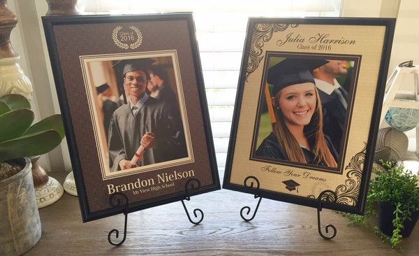 Personalized Designer Photo Frames - Graduation Style - Qualtry Personalized Gifts