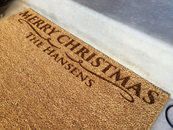 Personalized Christmas Door Mats – 2 Shapes, 2 Designs! - Qualtry