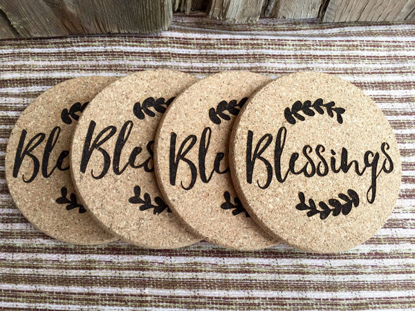 Personalized Thanksgiving Engraved Coasters - 6 Amazing Designs - Qualtry