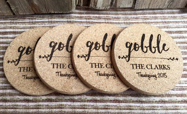 Personalized Thanksgiving Engraved Coasters - 6 Amazing Designs - Qualtry Personalized Gifts