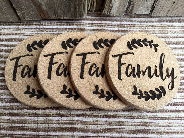 Personalized Thanksgiving Engraved Coasters - 6 Amazing Designs