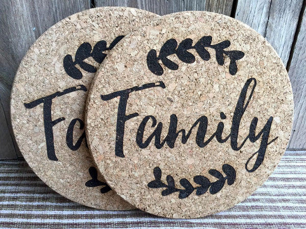 Personalized Large Thanksgiving Hot Pad (1 Pad) - 6 Amazing Designs - Qualtry Personalized Gifts