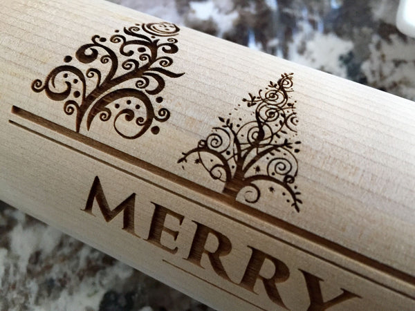 Personalized Christmas Rolling Pins - 5 Designs - Qualtry Personalized Gifts