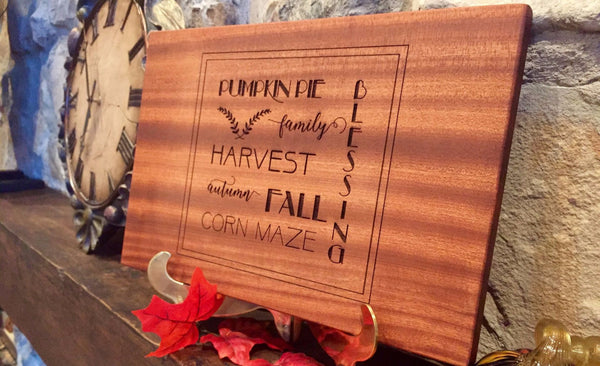 Personalized Thanksgiving Mahogany decorative Cutting Boards - Qualtry Personalized Gifts