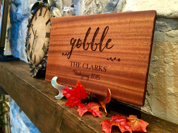Personalized Thanksgiving Mahogany decorative Cutting Boards
