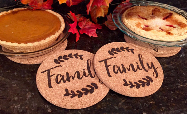 Personalized Large Thanksgiving Hot Pad (1 Pad) - 6 Amazing Designs