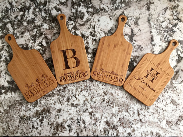 Qualtry Personalized Handled Bamboo Serving Boards! 8 Amazing Designs!