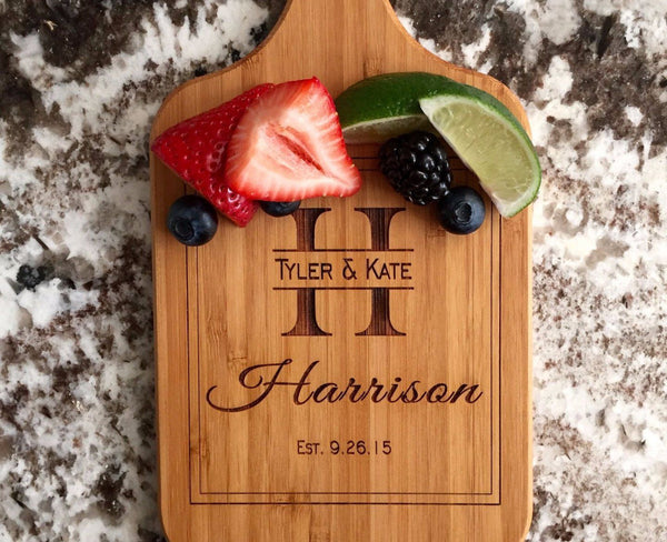 Personalized Handled Bamboo Serving Boards! 8 Amazing Designs! - Qualtry