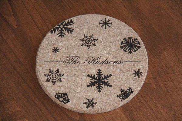 Personalized Large Kitchen Hot Pad - Choose From 5 Different Designs - Qualtry