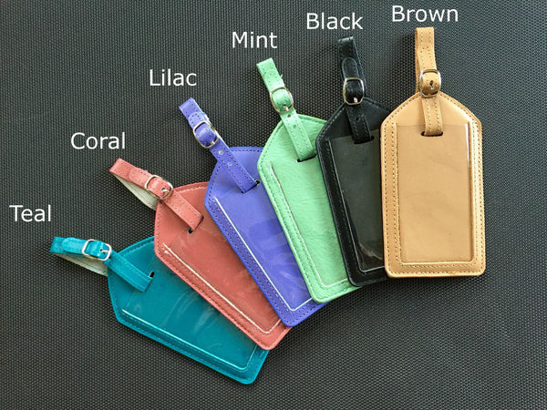 Genuine Leather Luggage Tag Cases - Qualtry