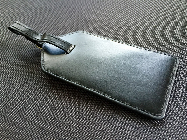 Genuine Leather Luggage Tag Cases - Qualtry Personalized Gifts
