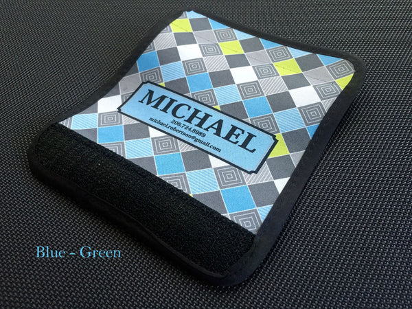 Personalized Luggage / Bag Markers - Checkerboard style