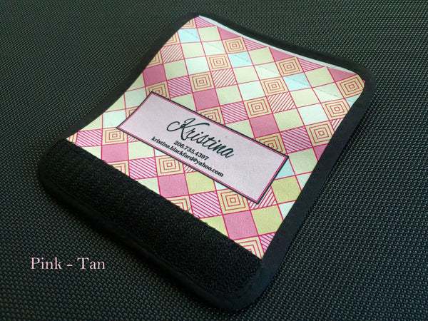 Personalized Luggage / Bag Markers - Checkerboard style - Qualtry Personalized Gifts