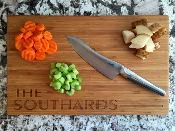 Park City Personalized Cutting Board 11x17 Bamboo