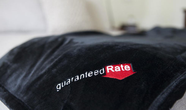 Guaranteed Rate - Custom Embroidered Minky Touch Blankets