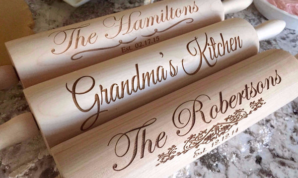 Personalized Rolling Pins - 5 Designs! - Qualtry Personalized Gifts