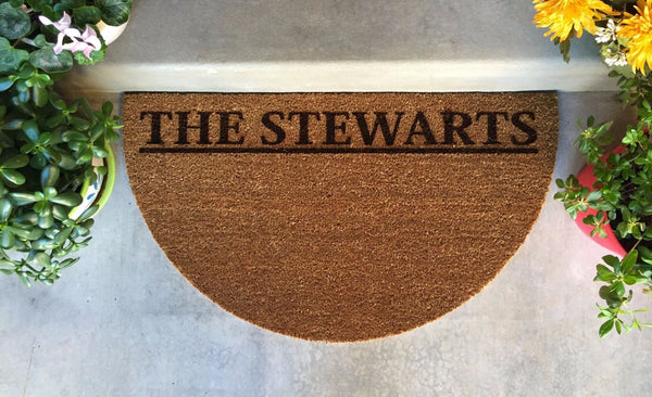 Personalized Door Mats - 2 Styles and 2 Shape Options! - Qualtry Personalized Gifts