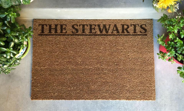 Pivot  - Personalized Laser Engraved Door Mat