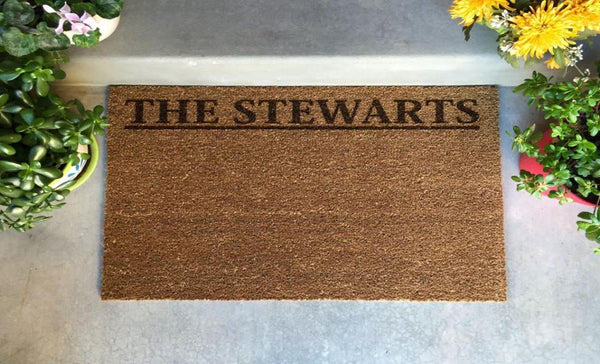 Personalized Door Mats - 2 Styles and 2 Shape Options!
