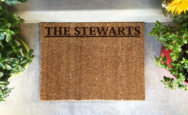 Personalized Door Mat - New Smaller Size! - Qualtry Personalized Gifts