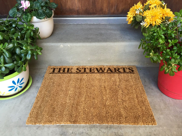Personalized Door Mat - New Smaller Size! - Qualtry