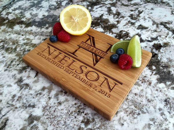 Corporate Gift Item - 6x8 Bamboo Cutting Board (Single Tone) - Free Ship