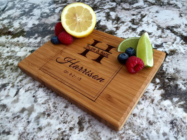 Personalized Cutting Board 6x8 (Single Tone) Bamboo - 10 Designs! - Qualtry Personalized Gifts