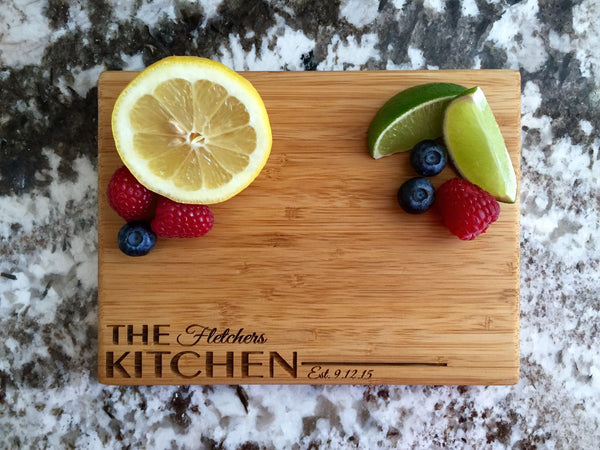 Personalized Cutting Board 6x8 (Single Tone) Bamboo - 10 Designs! - Qualtry