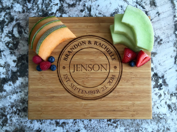 Personalized Cutting Board 11x13 Bamboo - 11 Designs!