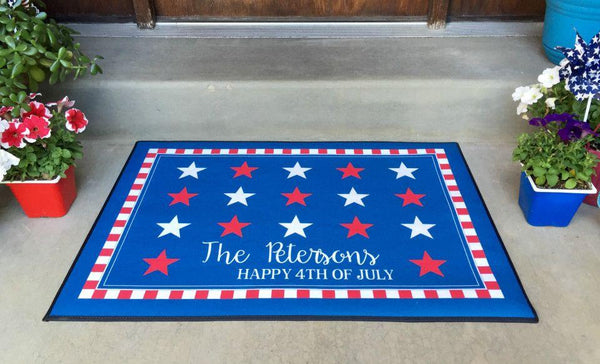 Personalized Large Patriotic Door Mats - Qualtry Personalized Gifts