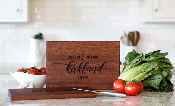 Corporate Gift Item - Beautiful Large Mahogany Cutting Board - Modern Collection