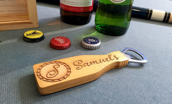 Personalized Beer Bottle Cap Shadow Box - Small