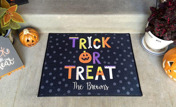 Personalized Medium Halloween Door Mats